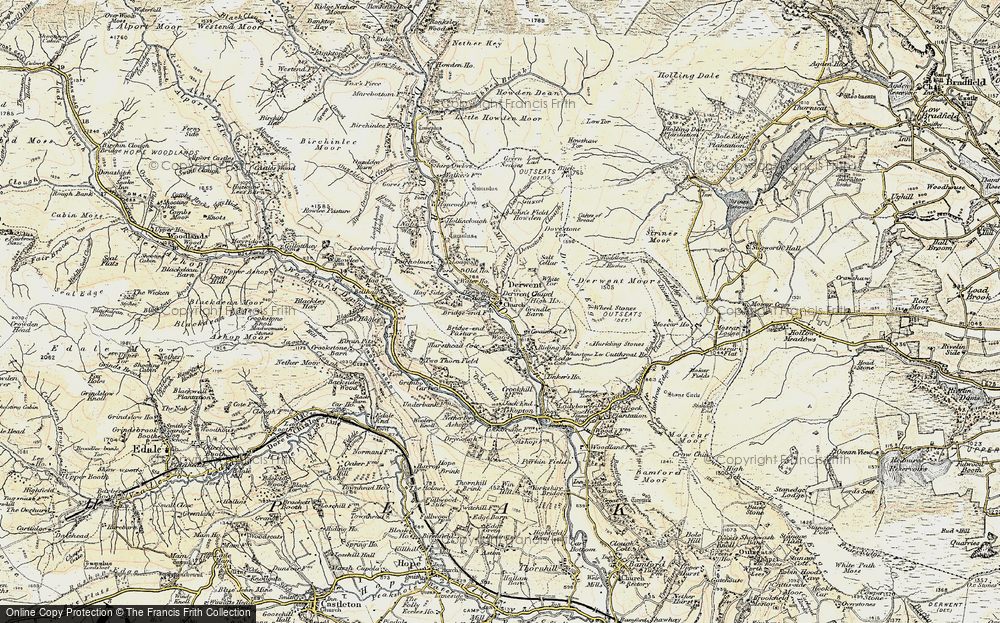 Old Map of Historic Map covering White Tor in 1903