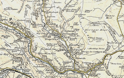 Old map of Wheel Stones in 1903