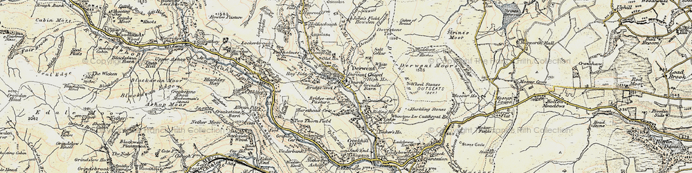 Old map of White Tor in 1903
