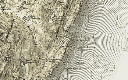 Old map of Allt an Eireannaich in 1905-1907