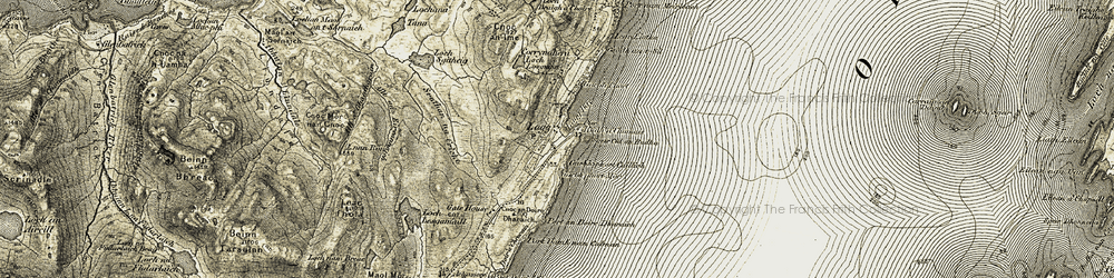 Old map of Allt Feàrna Mòr in 1905-1907