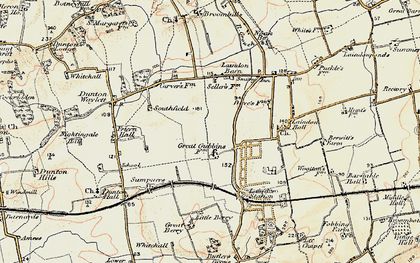 Old map of Laindon in 1898