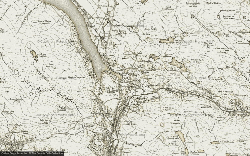 Old Map of Lairg, 1910-1912 in 1910-1912