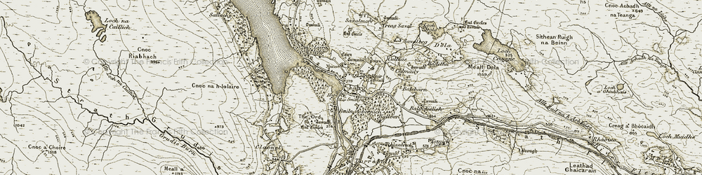 Old map of Lairg in 1910-1912