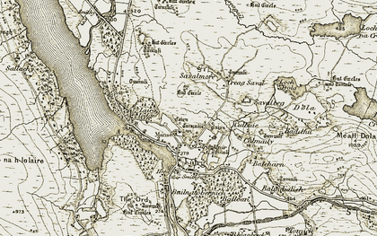 Old map of Lairg Muir in 1910-1912