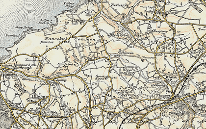 Old map of Laity Moor in 1900