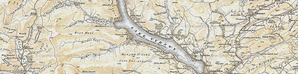 Old map of Afon Cedig in 1902-1903