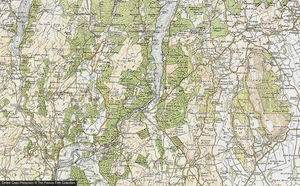Old Map of Historic Map covering Astley's Plantation in 1903-1904
