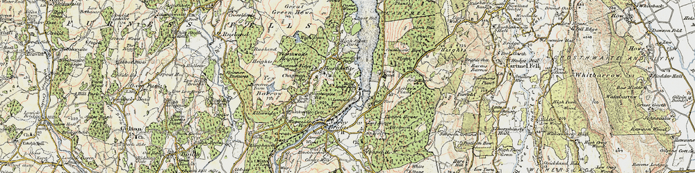 Old map of YMCA National Centre in 1903-1904