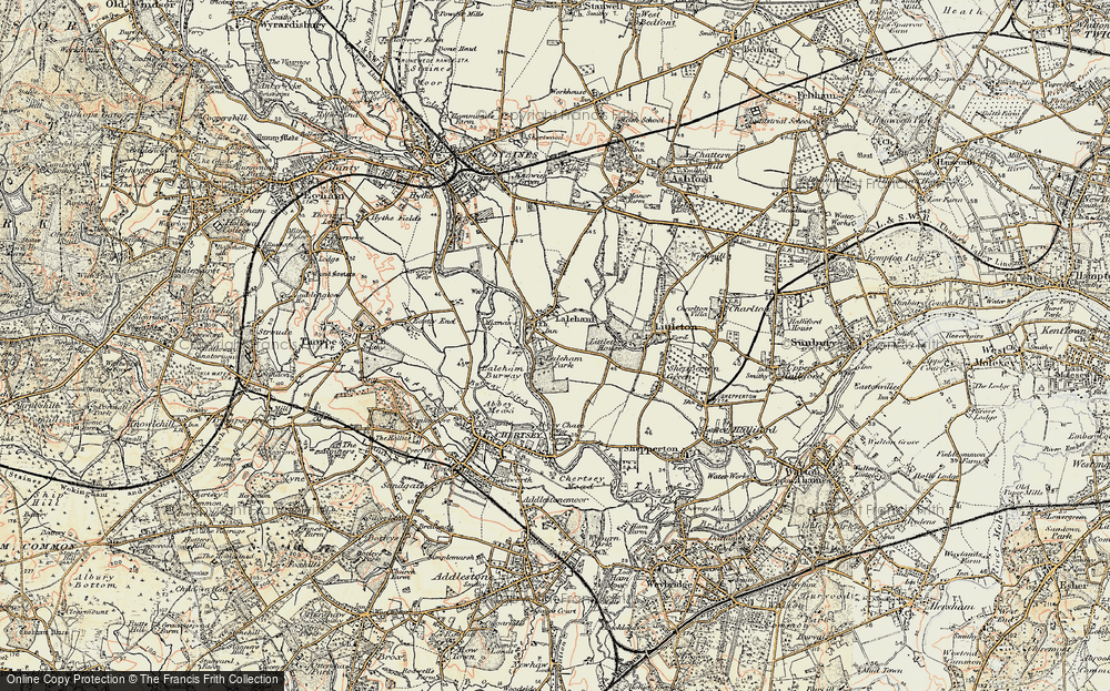 Old Map of Historic Map covering Abbey Chase in 1897-1909