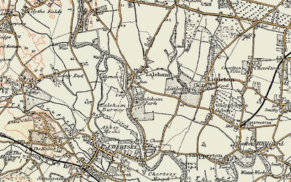 Old map of Abbey Chase in 1897-1909