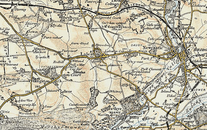 Old map of Laleston in 1900-1901