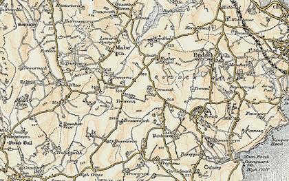 Old map of Lamanva in 1900