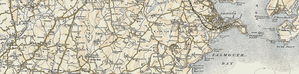 Old map of Argal Manor in 1900