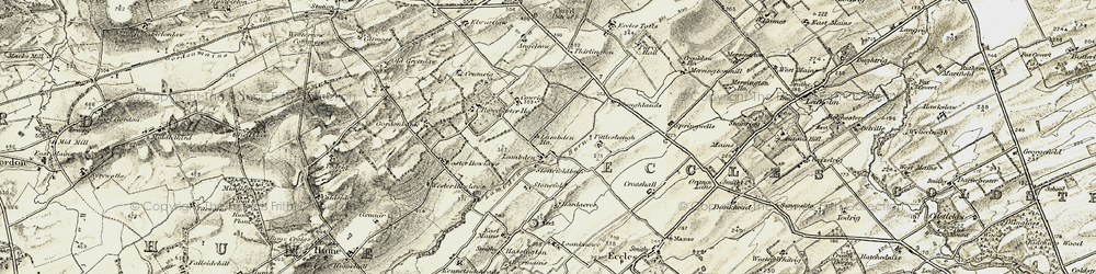 Old map of Wester Howlaws in 1901-1904