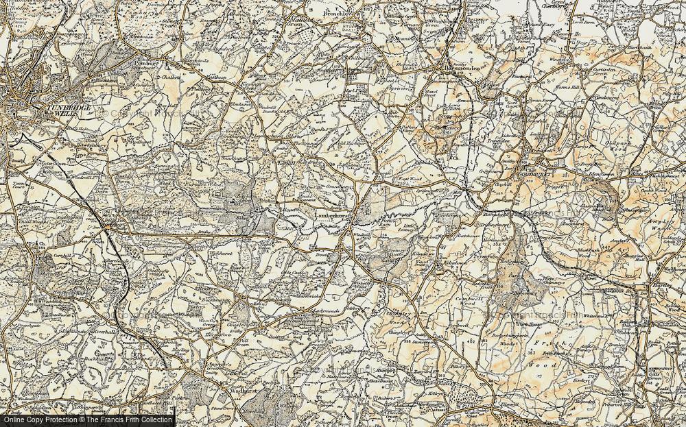 Old Map of Lamberhurst, 1897-1898 in 1897-1898