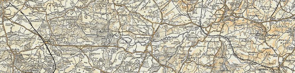 Old map of Lamberhurst in 1897-1898