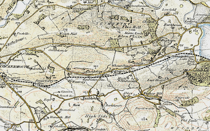 Old map of Tom Rudd Beck in 1901-1904