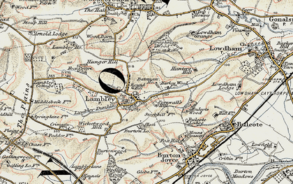 Old map of Lambley in 1902-1903