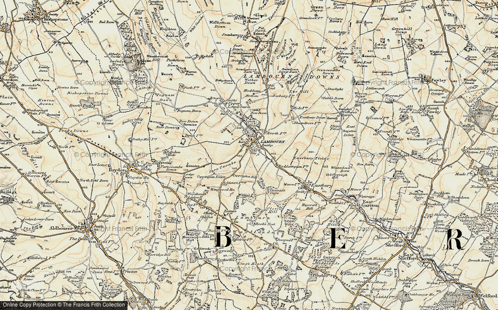 Old Map of Lambourn, 1897-1900 in 1897-1900