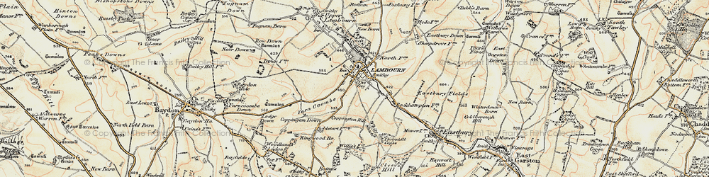 Old map of White Shute in 1897-1900