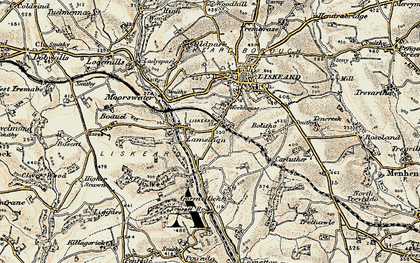 Old map of Lamellion in 1900