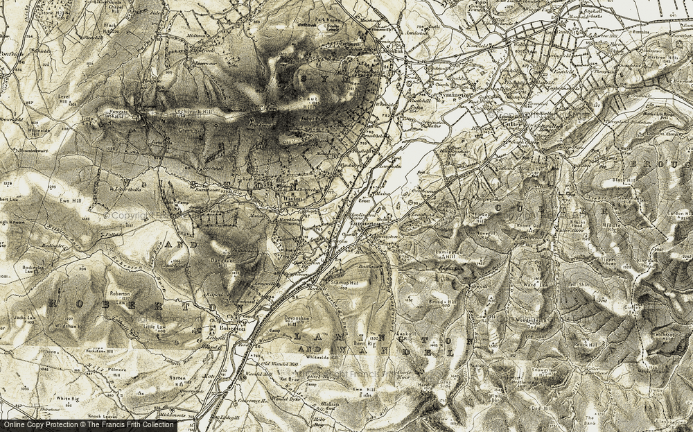Old Map of Historic Map covering Tintoside in 1904-1905