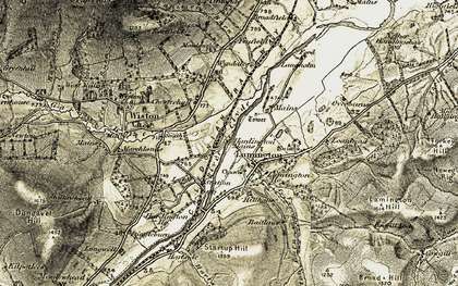 Old map of Tintoside in 1904-1905
