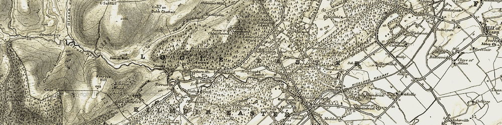 Old map of Wilderness, The in 1911-1912