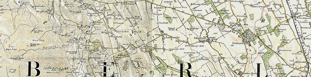 Old map of Wood Close in 1901-1904
