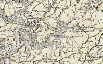 Old map of Lamorran in 1900
