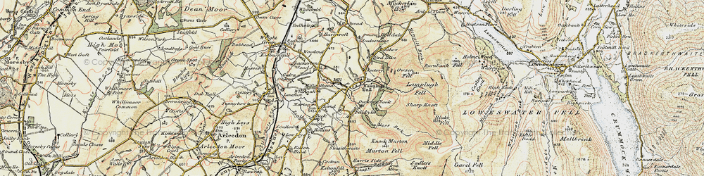 Old map of Wisenholme Beck in 1901-1904