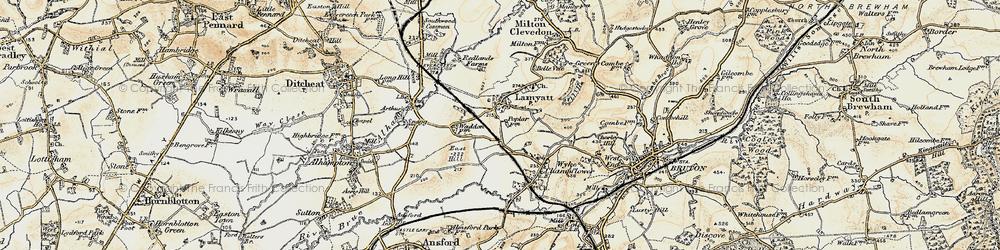 Old map of Wyke Ho in 1899