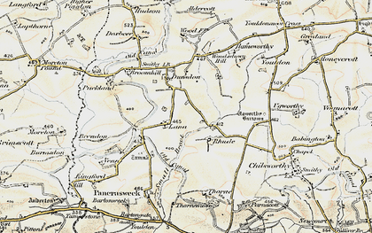Old map of Woodsdown Hill in 1900