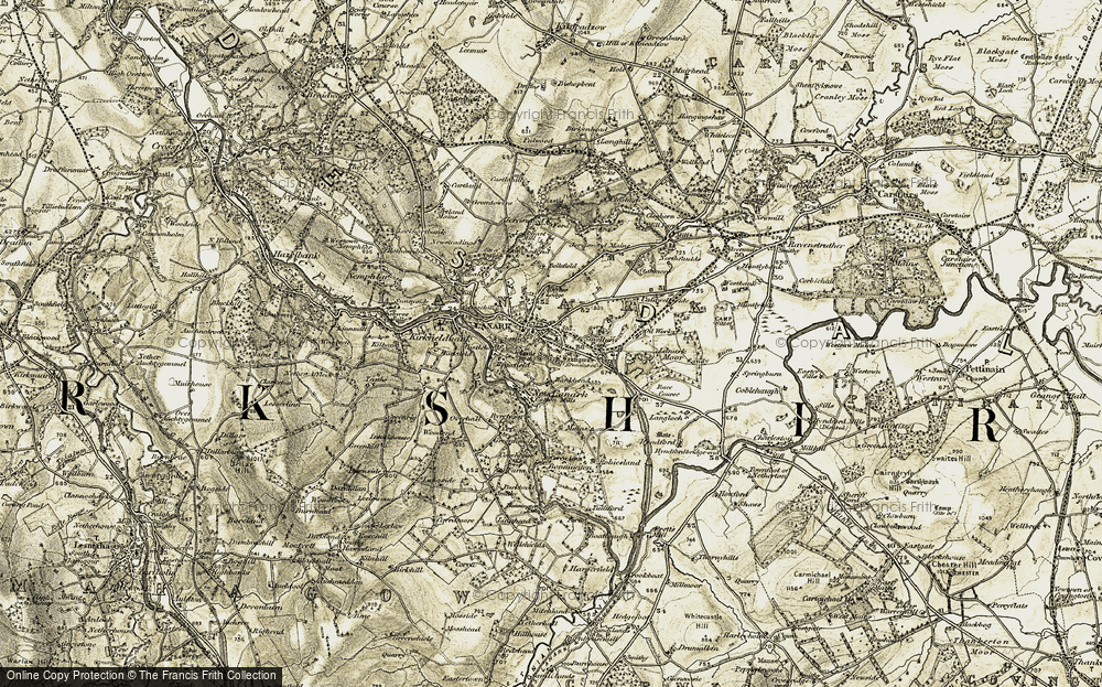 Old Map of Historic Map covering Woodend in 1904-1905