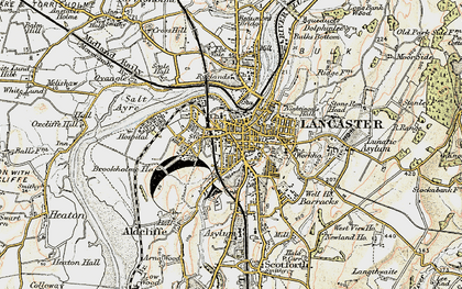 Old map of Lancaster in 1903-1904