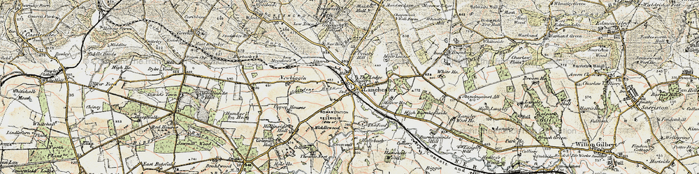 Old map of Alderdene Burn in 1901-1904