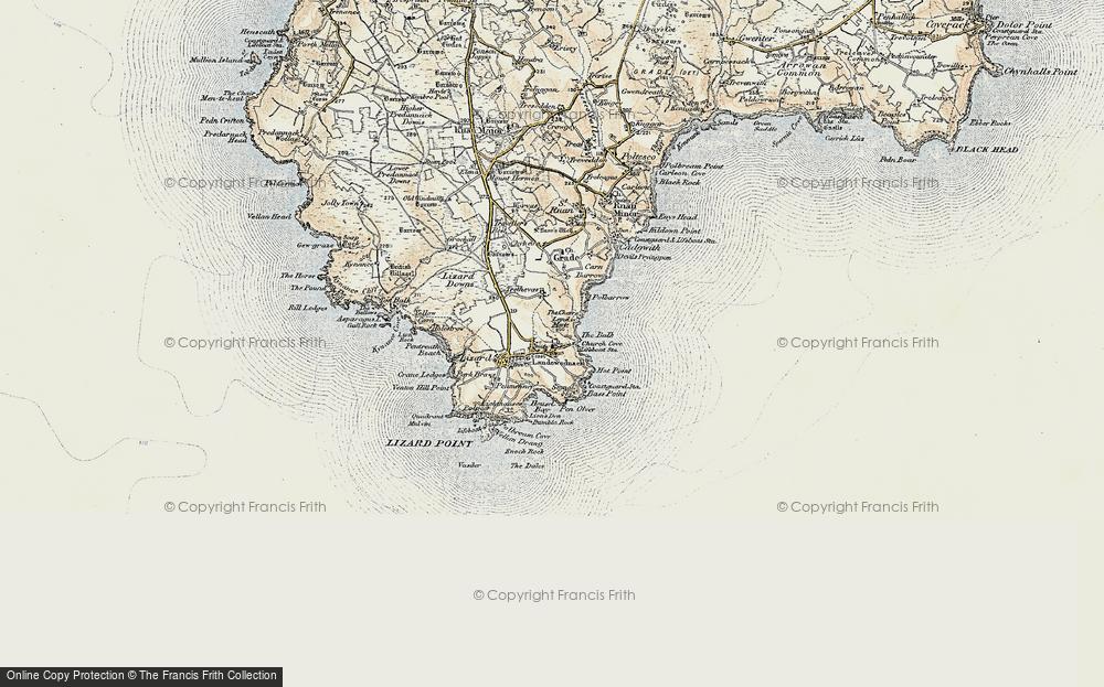 Old Map of Landewednack, 1900 in 1900