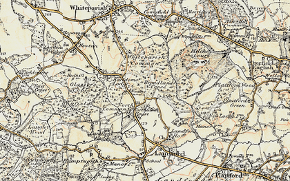 Old map of Whiteparish Common in 1897-1909