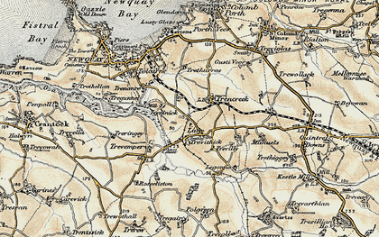 Old map of Lane in 1900