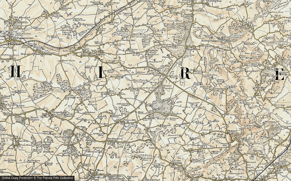 Old Map of Lane End, 1897-1900 in 1897-1900