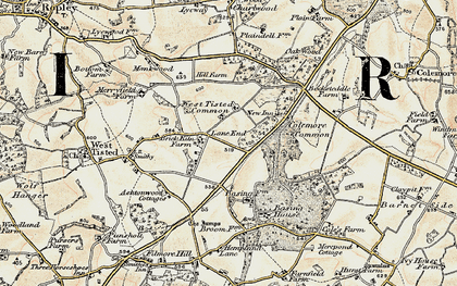 Old map of Lane End in 1897-1900