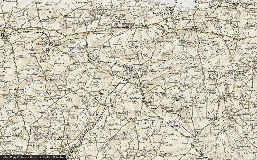 Old Map of Lane End, 1900 in 1900