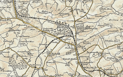 Old map of Lane End in 1900