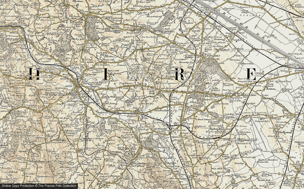 Old Map of Lane End, 1902-1903 in 1902-1903