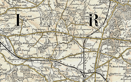 Old map of Lane End in 1902-1903