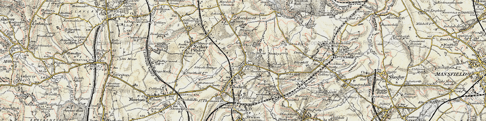 Old map of Tibshelf Services in 1902-1903