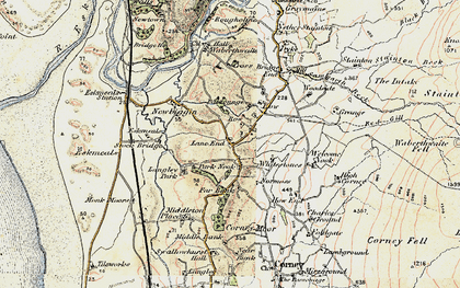 Old map of Waberthwaite in 1903-1904