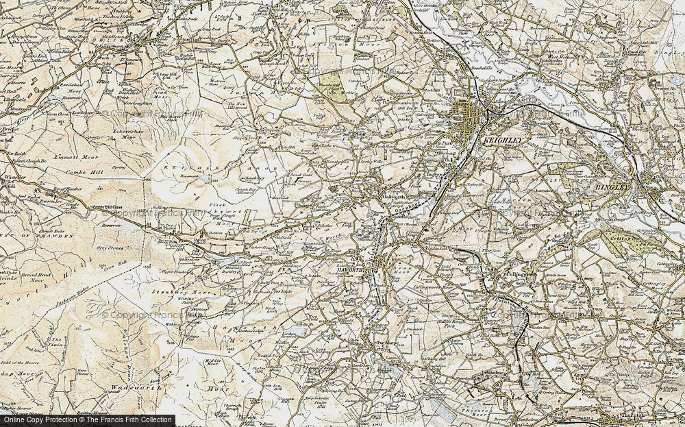 Old Map of Lane End, 1903-1904 in 1903-1904