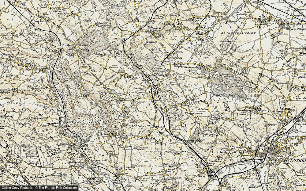 Old Map of Lane End, 1903 in 1903